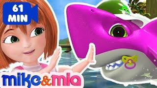 Baby Shark Doo Doo Doo Doo | Sing and Dance | Animal Songs | Nursery Rhymes by Mike and Mia