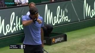 The Best of Roger Federer vs Mischa Zverev: Hot Shots & Highlights   Halle 2017 Day 4