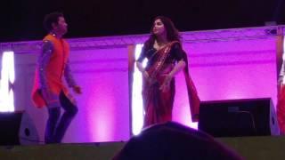 Dinesh lal yadav with amrapali dubey bhojpuri muqabala doha qatar 17 March 2017