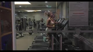 Women Use Hotel Gym Stock Video