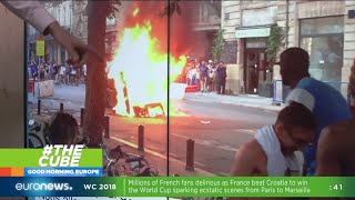 #TheCube   World Cup violence erupts in France after victory over Croatia