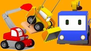 The Tree Shed - Learn with Tiny Trucks : bulldozer, crane, excavator | Educational cartoon