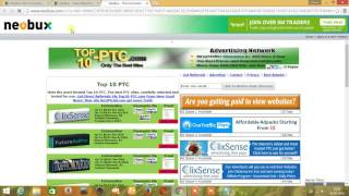 Online money earning TELUGU (Neobux PTC website)