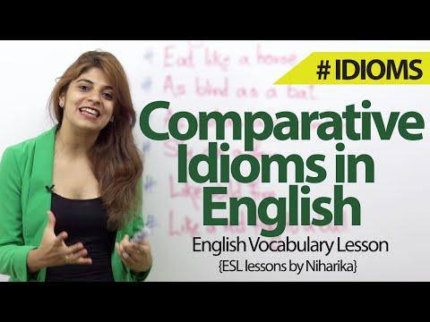 watch Comparative Idioms in English - English Vocabulary & Grammar lesson