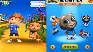 Talking Tom Gold Run Football TOM  VS Strawberry Shortcake BerryRush Android Gameplay