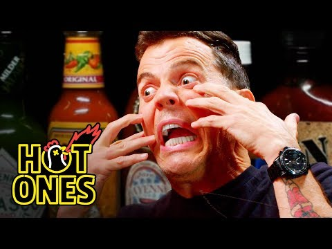 Steve O Tells Insane Stories While Eating Spicy Wings Hot Ones