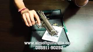 Beretta M92fs based kimar m92fs front firing blank gun in india(chrome)