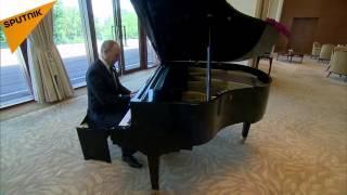 پیانو نوازیپوتین در دیدار با شی جین پینگ
