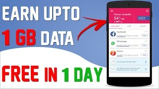 Earn Upto 1 GB  Free Data On Any Sim Card Everyday By Using Whatsapp/Facebook/Instagram Latest Trick