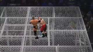 WWE2K14 Hell In A Cell Match Triple H (Me) vs Brock Lesnar (My Bro) BEST MATCH EVER!!