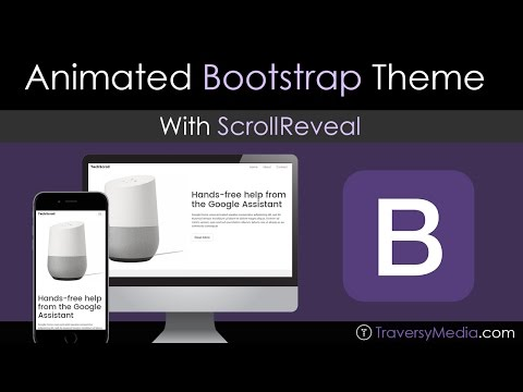 Build a Bootstrap Theme With Scroll Animation