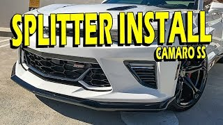 How To: 2016/2017 Camaro SS GM Splitter (Front Fascia Extension) Install Guide