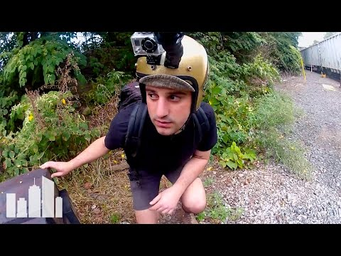 Watch This Self Proclaimed Idiot Hop Freight Trains To Montauk