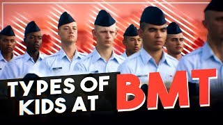 Types of kids at Air Force Basic Training (USAF comedy skit)