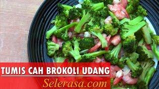 Resep dan Cara Membuat Tumis Cah Brokoli Udang (Indonesia recipe)