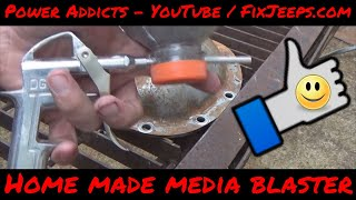 DIY Sand Blaster!! 😃 Easy and very cheap to make - Works great for prepping small parts to paint!