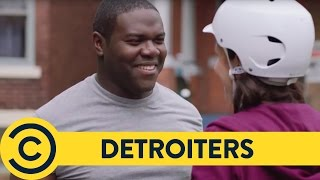 Roller-Blading Meet Cute - Detroiters | Comedy Central