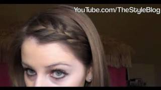 How to: Sideswept Braided Bangs