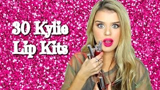 30 shades of kylie lip kits