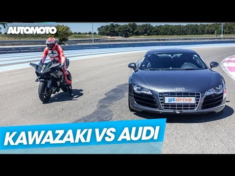 Duel Kawasaki Ninja H2R vs Audi R8 V10