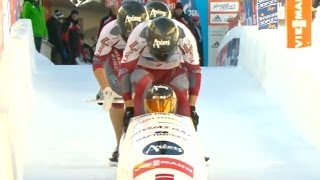 IBSF   4-Man Bobsleigh World Cup 2013/2014 - St. Moritz Heat 1