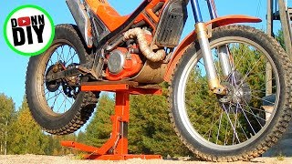 Homemade Heavy Duty Lift Stand For Motorcycle From Salvaged Steel & Plywood
