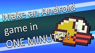 How to make an Android game in just ONE Minute - NO PC needed!