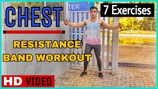 #1: 7 Chest Workout With Resistance Band By Nikhil Agrawal