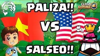 SALSEO  Y PALIZA EN CR WORLDS | USA vs Vietnam - KManuS88 - Clash Royale