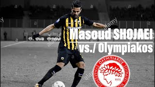 Masoud SHOJAEI (AEK Athens) vs./ Olympiakos F.C. | 2018 Greece Super League