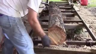 Running My Homemade Sawmill