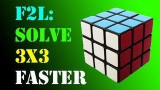 F2L: Solve a Rubik's Cube FASTER! (Part 1)