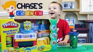 Chase's Corner: Playdoh Meal Makin' Kitchen Review & Unboxing Fun w/ Dad