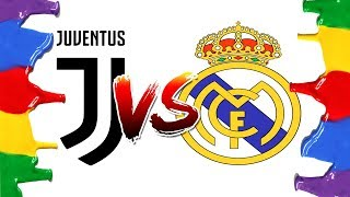 How to Draw and Color - Juventus Vs Real Madrid Champions League Logos Coloring Pages