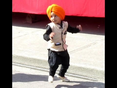 Cute little Bhangra dancer @ Surrey, Canada Vaisakhi celebrations