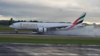 Emirates Boeing 777  First Landing At Rafael Hernandez Airport Aguadilla PR