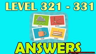 Pictoword Level 321 - 331 - All Answers - Walkthrough ( By Kooapps LLC )