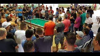 Baianinho de Mauá vs Tetel de Brasília, final do torneio de sinuca de Nerópolis NOV 2018
