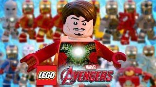 TODAS AS ARMADURAS DO HOMEM DE FERRO - LEGO Marvel's Avengers (LEGO Marvel Vingadores)