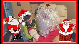 Christmas Santa Claus visits our house and tracks Sweetie Fella Aleks