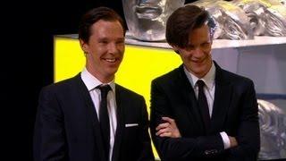 Matt Smith and Benedict Cumberbatch present Steven Moffat