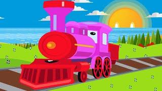 Cartoon for kids - Train fun for children - Kids Railway - Car Cartoon - Children Videos