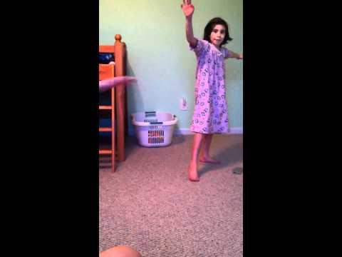 Girls cartwheels