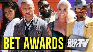Rick Ross, Amber Rose, Vic Mensa & More at The BET Awards Red Carpet