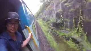 Indian Railway Train - Mumbai to Goa (Monsoon Season)