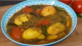 Vegetable Egg Curry Quick and Easy Bangla Recipe By Cooking Channel Bd