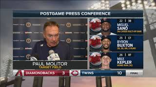 Twins manager Molitor on Buxton coming up short of cycle: