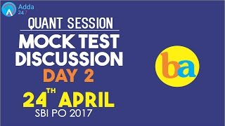 SBI PO | Bankers Adda 24/4/17 Mock Test Discussion On QUANT 2 | Online Coaching for SBI,IBPS,BANK PO