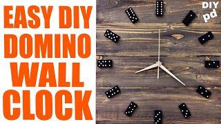 Domino Wall Clock - How you can Make It With Domino Bricks