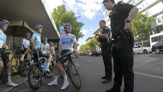 Chris Froome's Team Sky Gets Pulled Over For Practicing Marginal Traffic Gains (2018)